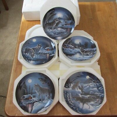Bradford Exchange Nightwatch: The Wolf Collector Plate series by Don Ningewance