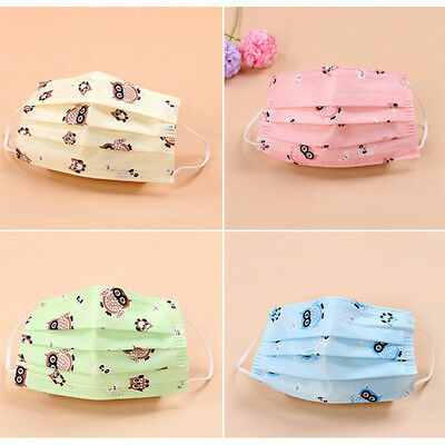10X Cute  Disposable Surgical Face Dust Cleaning Ear Loop Flu Medical Mask Q