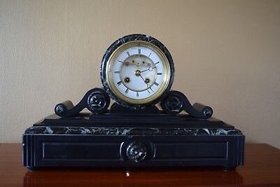 Slate Drumhead French Mantel Clock