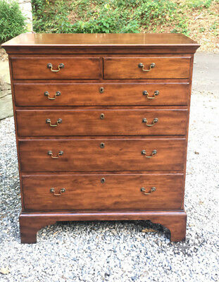 Vintage Colonial Williamsburg Kittinger mahogany 6 graduated drawer tall chest