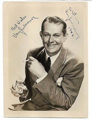 Vaughn Monroe...vintage Hand Signed/inscribed Glossy Sepia Photograph...twice.