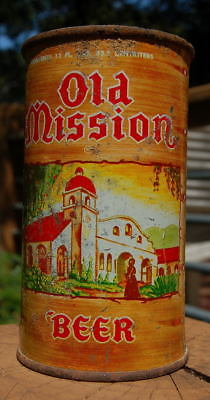 Solid Old Mission Flat Top Beer Can!  (Usbc 37-107)