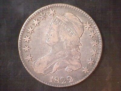 1822 Capped Bust Half Dollar - Beautiful!