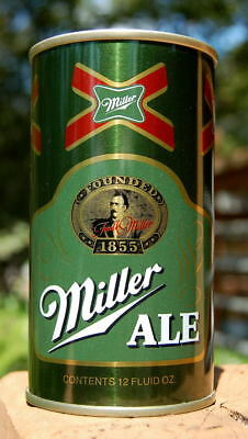 Dead Mint Miller Ale Pull Tab Beer Can!  Flawless Straight-Steel Example!