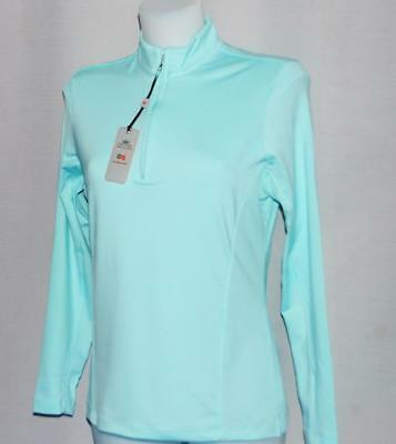 New Ladies Peter Millar E4 polyester spandex Long sleeve golf shirt Small