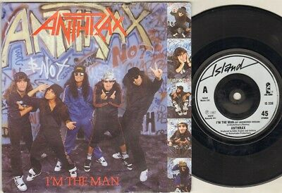 "ANTHRAX I'm The Man 7"" Ps, Def Uncensored Version B/W Caught In A Mosh-Live, Is"