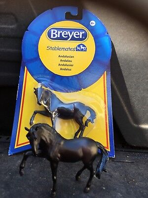 2 Breyer Horse Andalusian Chrome Mold Stablemates