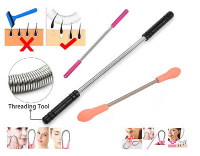 Facial Threading Epistick Epilator Spring Hair Remover Removal Cleaner Stick