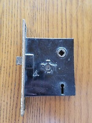 Vintage Antique Door Lock Box Lot of 2 BLW