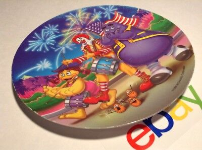 "1998 MCDONALD'S Collector Plastic 9.5"" Plate MARCHING BAND Ronald Grimace"