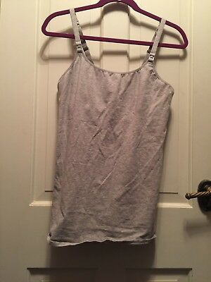 Gilligan & O'Malley Grey Nursing Breastfeeding Tank size XL