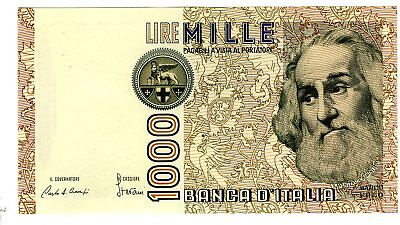 Italy 1000 Lire Note Marco Polo Uncirculated