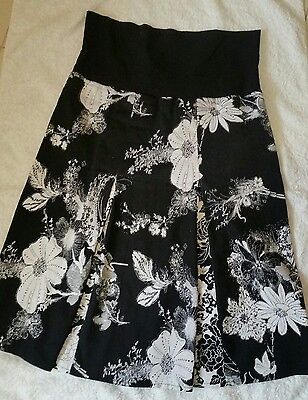 Ladies Black White Maternity Pumpkin Patch Skirt Size S suits 10