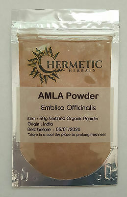 Amla powder 50g -  Certified Organic - Indian Gooseberry