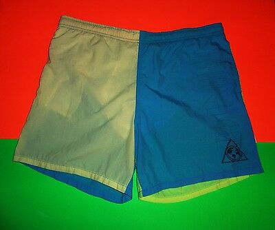 VTG 80s SURFERS ALLIANCE BOARD SHORTS NEW WAVE SURF PUNK SURFING BLUE YELLOW MEN