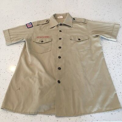 Men's Boy Scouts Of America BSA Uniform Shirt Size Medium