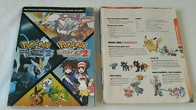 Pokemon Black and White strategy guide and Pokemon Diamond and Pearl books