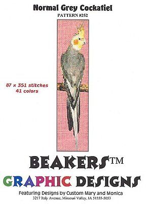 COCKATIEL Counted Cross Stitch detailed #0252