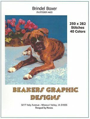 BOXER BRINDEL Counted Cross Stitch detailed #0622