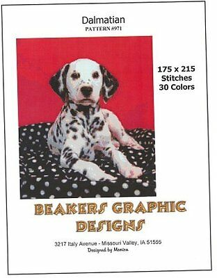 DALMATIAN Counted Cross Stitch detailed #0971