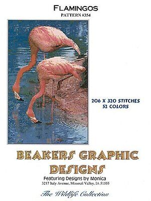 FLAMINGOS Counted Cross Stitch detailed #0354