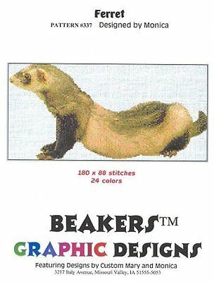 FERRET Counted Cross Stitch detailed #0337
