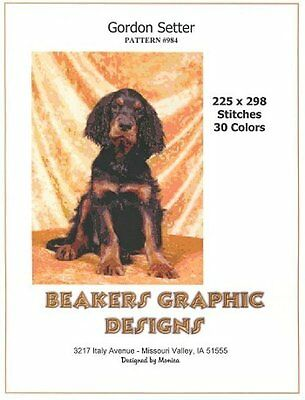 GORDON SETTER PUPPY Counted Cross Stitch detailed #0984