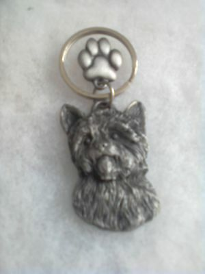 Yorkshire Terrier Yorkie Pewter Key Chain
