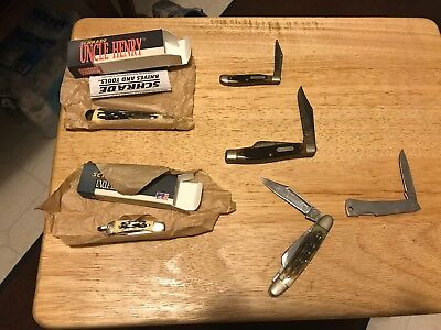 Lot of 6 knifes 2 New Uncle Henry Case Old Timer Frost The Wranger