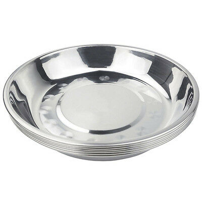 17*2.2CM Kichen Camping Stainless Steel Tableware Dinner Plate Food Container