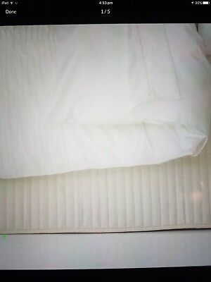 Sheridan queen size quilted bed skirt valance white
