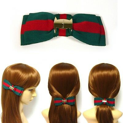 Wholesale Lots 10~30PCS Women Green Red Fabric Double Bow Barrette Hair Clip Pin