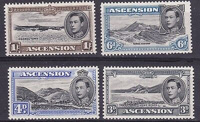Ascension 1938  part set of 4  perf 13  mint hinged
