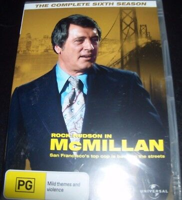 McMillan (Rock Hudson In) Complete Sixth Season 6 (Aust Reg 4) DVD – New