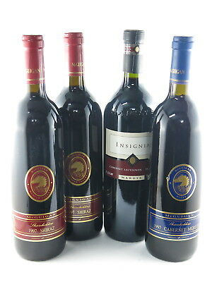 McGuigan Shareholders Shiraz 1997 x 2, McGuigan Cab Mer 1997, Hardys Red 1996