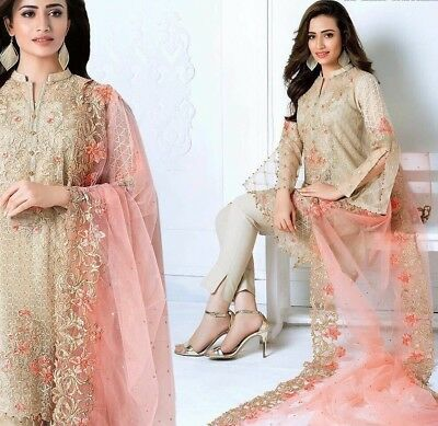 Gul Ahmed Ladies unstitched pakistani embroidery replica designer party suit