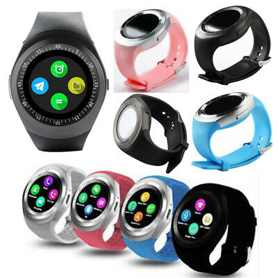 Wireless Bluetooth Touch Smart USB Rechargeable Wristwatch Watch Multifunction
