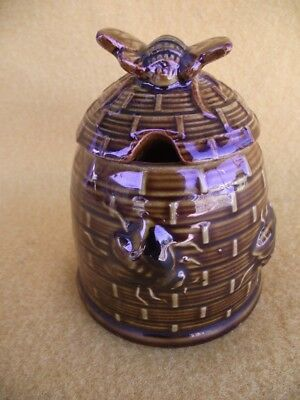 Vintage Bee Hive Sugar Bowl Australian Pottery Ceramic Kitchen Tableware Old