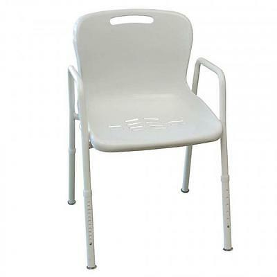 Shower Chair Adjustable Height With Backrest - *NEW*