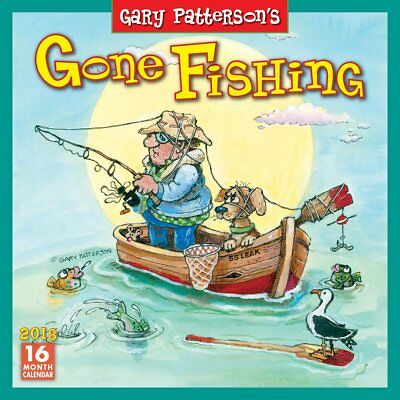 Gone Fishing 2018 Wall Calendar (Sellers Publishing) Post Included