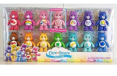 NEW Care Bears Deluxe Pack Collector Set 14 Figures Lot 3 Inch Just Toy NIP Girl