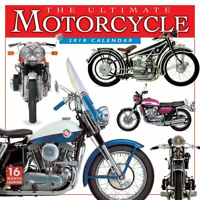 Ultimate Motorcycle 2018 Wall Calendar (Sellers Publishing) Post Included
