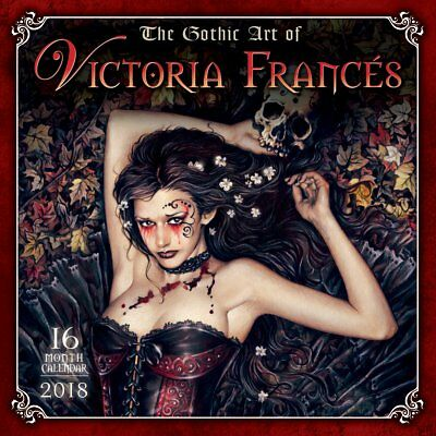 Gothic Art of Victoria Frances 2018 Square Wall Calendar (Sellers Publishing)