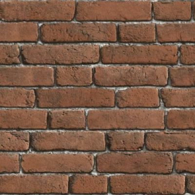 Red Bluff Brick Pattern Luxury Textured Embossed Vinyl Wallpaper Muriva J30108
