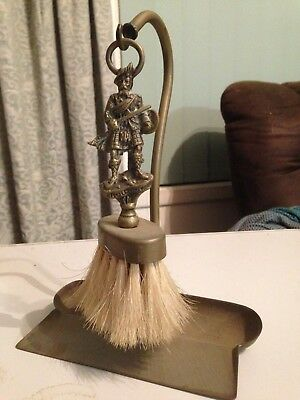 Vintage Brass Dustpan And Brush