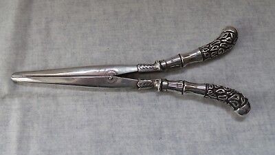 Silver Handled Victorian Hair Straighteners - HM 1898