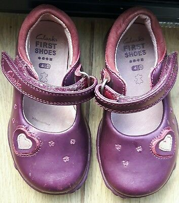 Clarks 4.5G Infant First Shoes, Lights, pink patent, 4 1/2G, leather