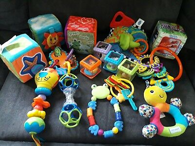 Lot of Baby Kids Hand Shaking Rattles and Spin Toys