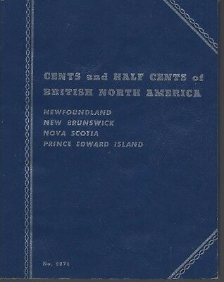 Cents & Half Cents of British North America Newfoundland  Whitman Folder