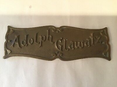 Original National Cash Register NCR lid Breast Name Plate ADOLPH GALWATZ